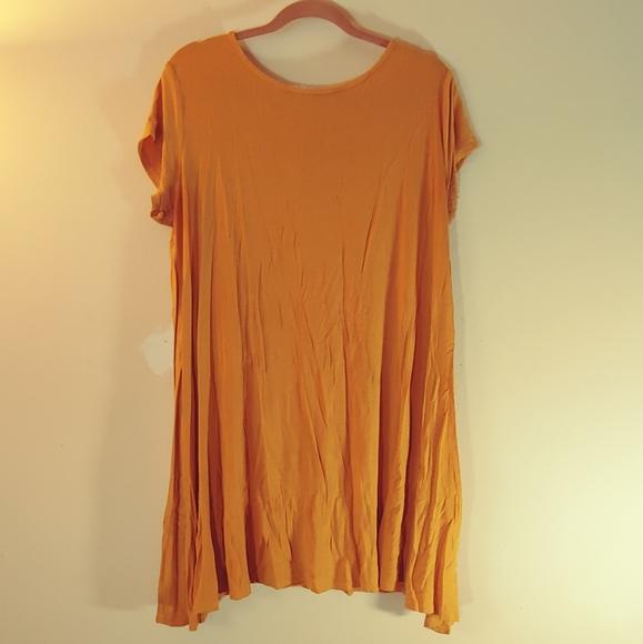 Mustard tee shirt dress casual comfy